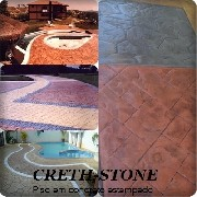 Concreto estampado creth stone